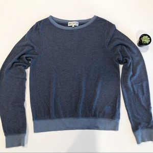 Wildfox Blue Crew-neck pullover sweatshirt M